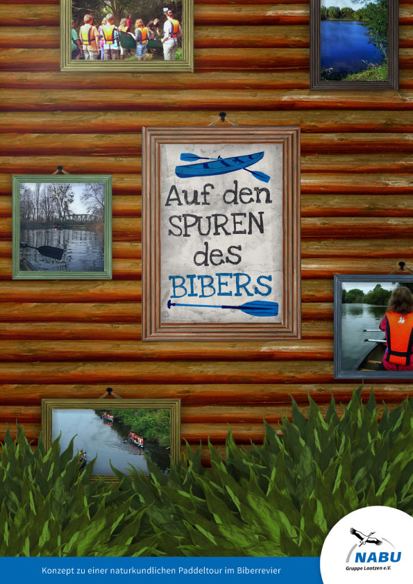 Cover Auf den Spuren des Bibers | NABU Informationsbroschüre