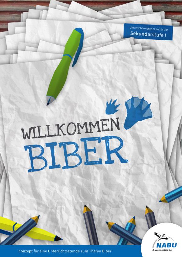 Cover Willkommen Biber Sek I | NABU Informationsbroschüre