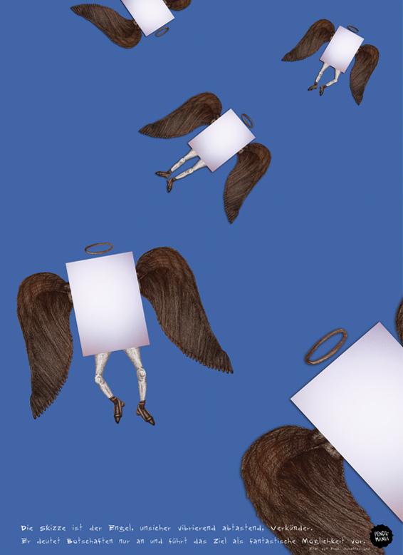 Plakat von Benjamin Petersen | Pencil-Mania | Braucht Design noch Stift und Papier?