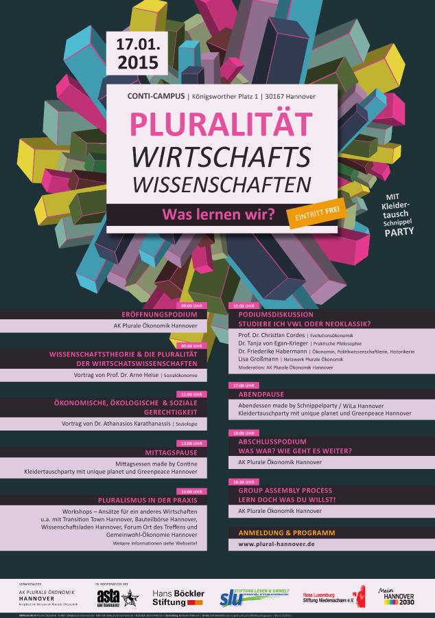 Plakat | Tag der Pluralen Ökonomik | Plurale Ökonomik Hannover
