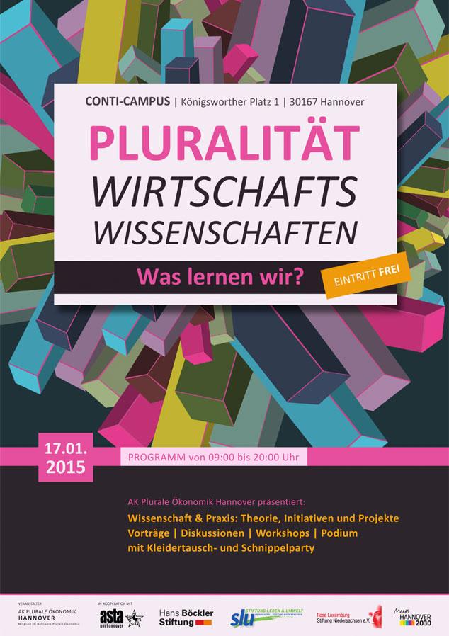 Flyer, Vorderseite | Tag der Pluralen Ökonomik | Plurale Ökonomik Hannover