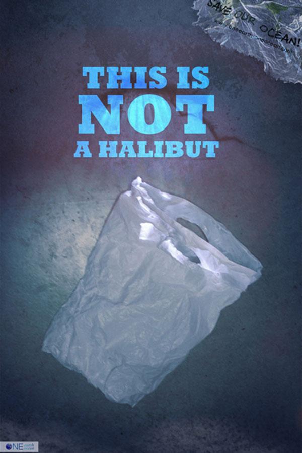 This is not... | Plakatkampagne gegen Plastikmüll im Meer von Benjamin Petersen