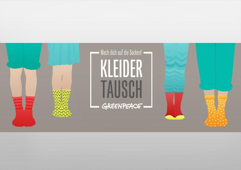 Banner | Kleidertauschparty | Mach dich auf die Socken! | Greenpeace Hannover
