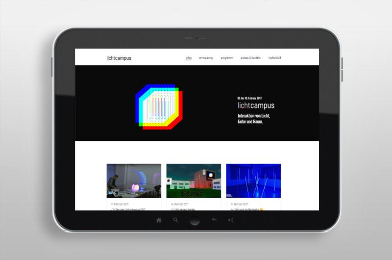 Webseitenauftritt | Lichtcampus 2017