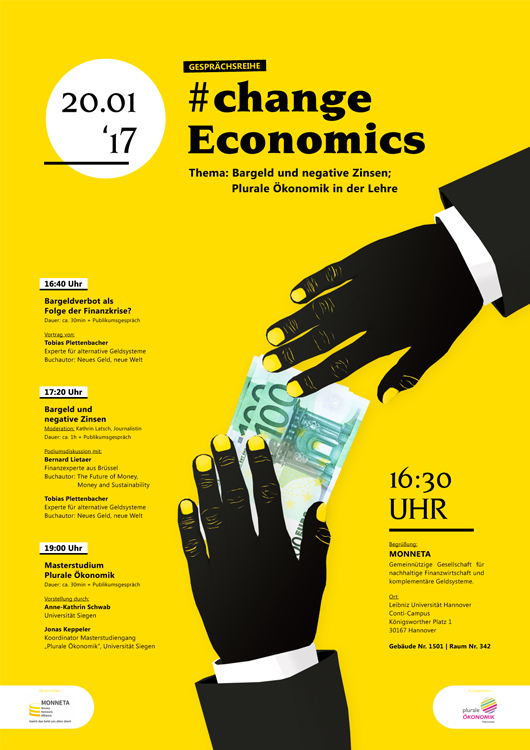 Plakat #changeeconomics | MONNETA