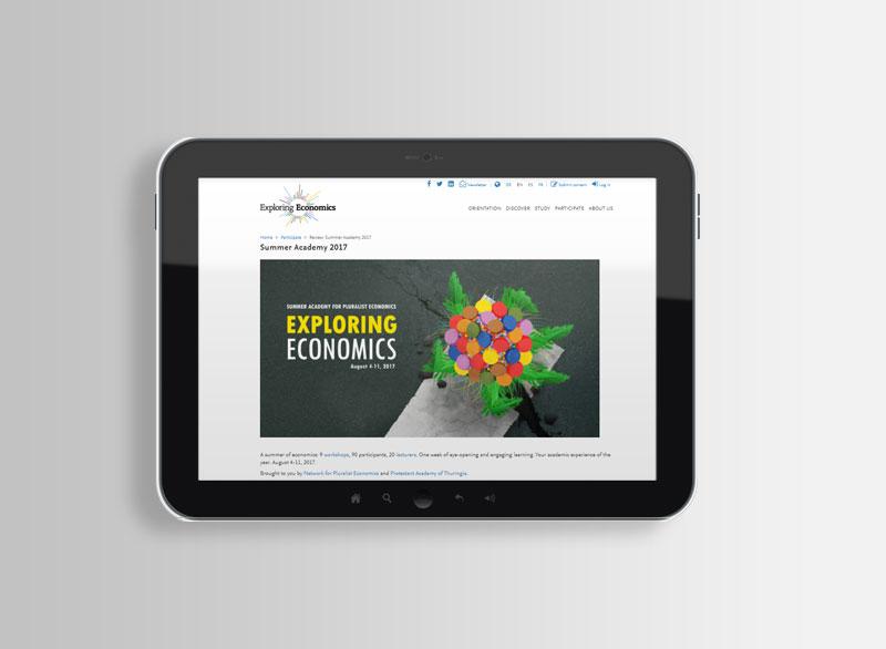 Online-Banner SUMMER ACADEMY OF PLURALIST ECONOMICS 2017 | Evangelische Akademie Thüringen