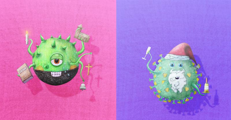 Illustration FREMDKÖRPER für #kontrastmittelcorona| KDA