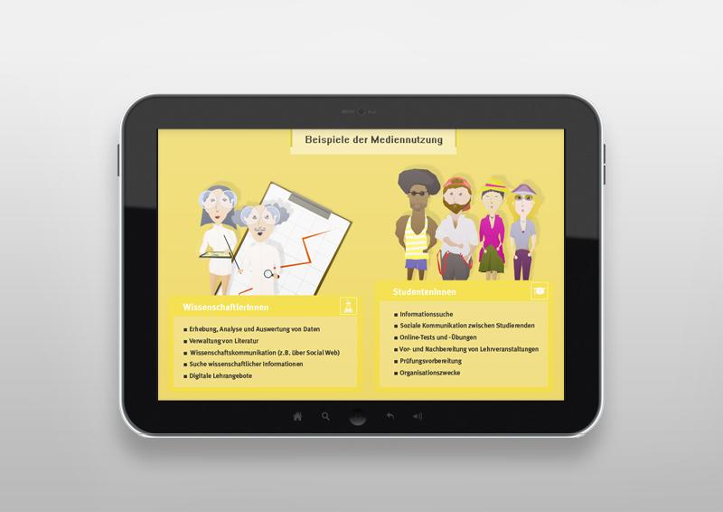 Illustrationen MEDIENLANDSCHAFTEN für eine Lernplattform | OHN-KursPortal