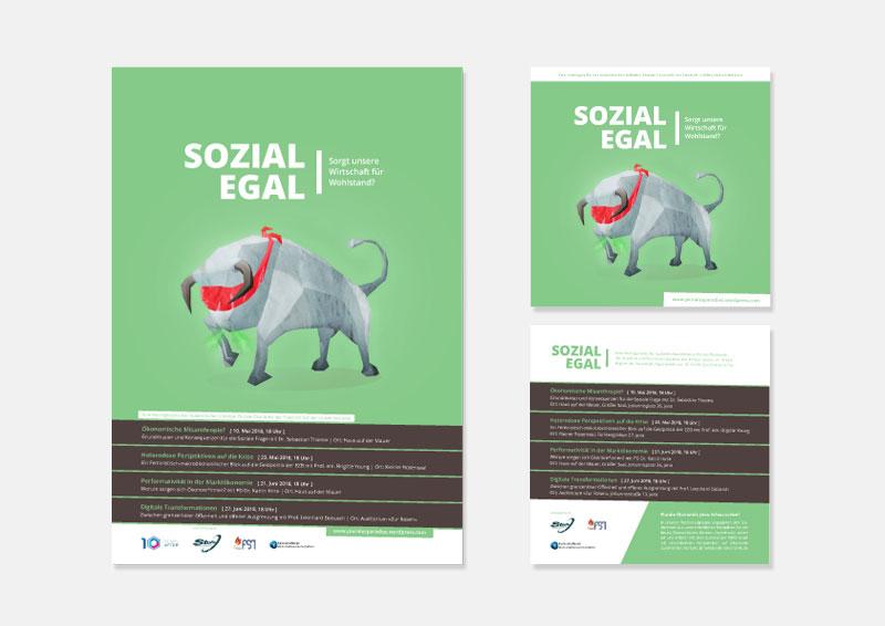 Poster & Flyer SOZIAL EGAL | Plurale Ökonomik Jena